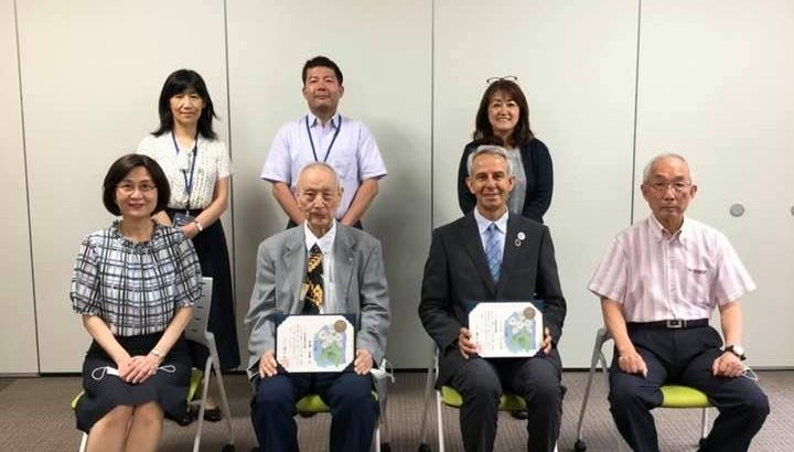 "We received a ""NOJIGIKU Award"" from Hyogo prefecture!"